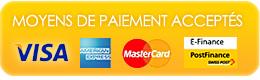Nous acceptons les cartes de crédit