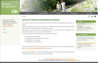 Service de Gériatrie et Réadaptation gériatrique du CHUV